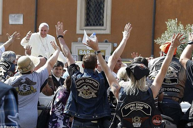 Pope Francis auctioned his motorcycle to benefit the homeless