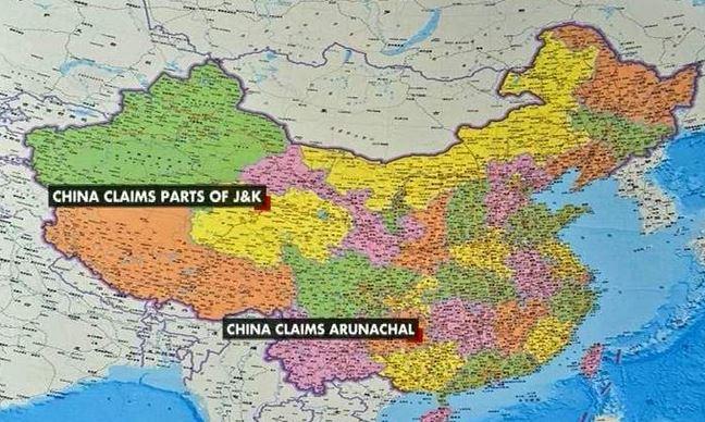 China riles india new map shows arunachal pradesh as its integral china india india vs china arunachal pradesh china claim in arunachal gumiabroncs Image collections