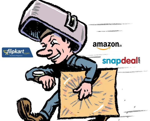 flipkart, amazon, snapdeal, logistics, delivery on time, india post, online retailers