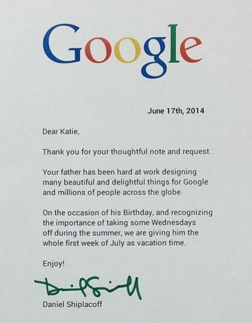 Reply Of Letter By Google