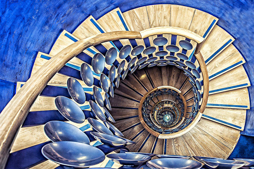 spiral staircases, beautiful staircases, spirals, amazing staircases, staircases