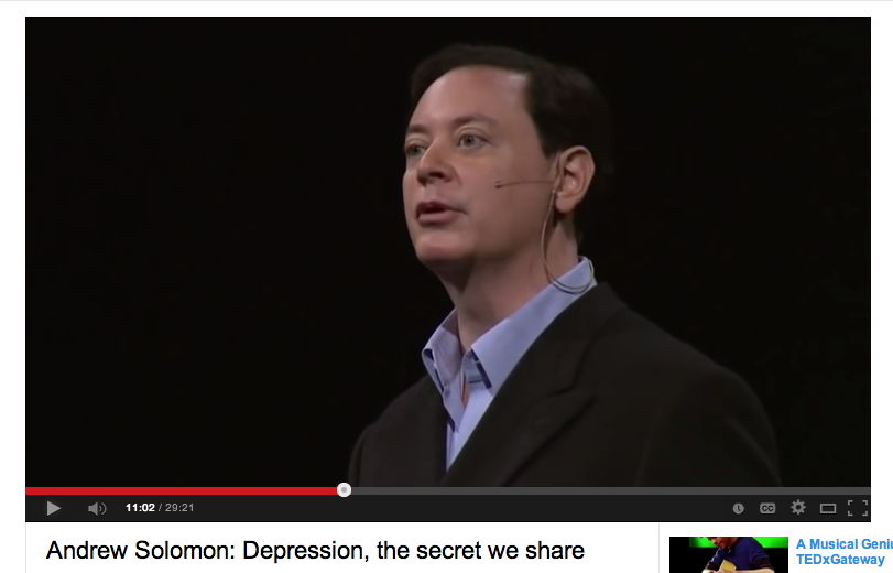 "ted talk on depression by andrew solomon These three inspiring people share their experiences in these ted talks  of a  depression is not happiness but vitality"" – andrew solomon looks deeply into."