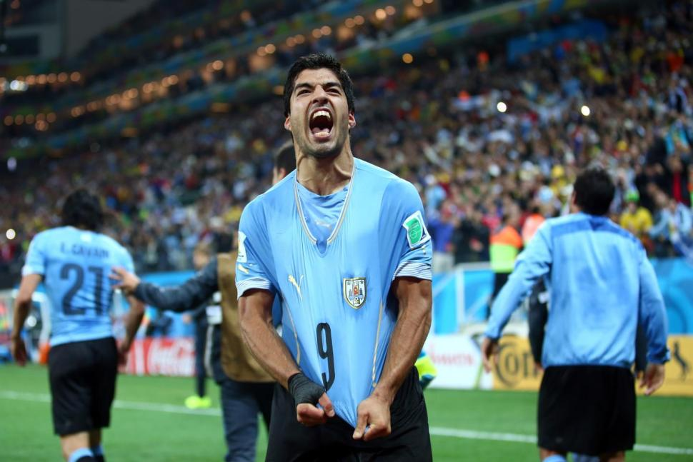 england, england almost out, fifa world cup 2014, fifa2014, gerrard, luis suarez, luis suarez magic, rooney, roy hodgson, uruguay,ouch,nation celebrates,england lose,uruguay win