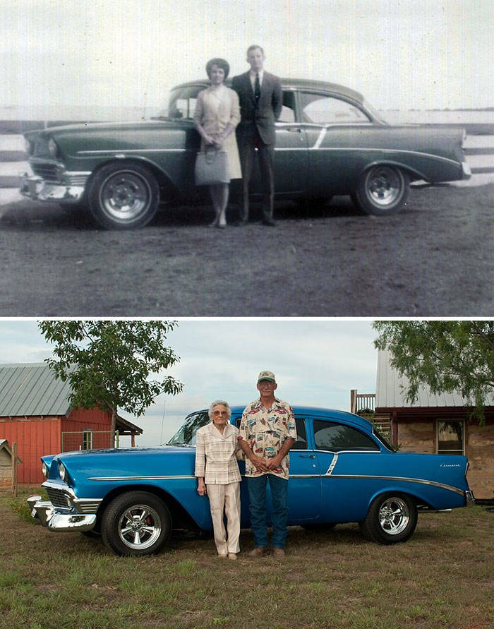 top photo recreations, childhood to adulthood, childhood photos, before and after, amazing photos, wow, Meeting Hulk Hogan