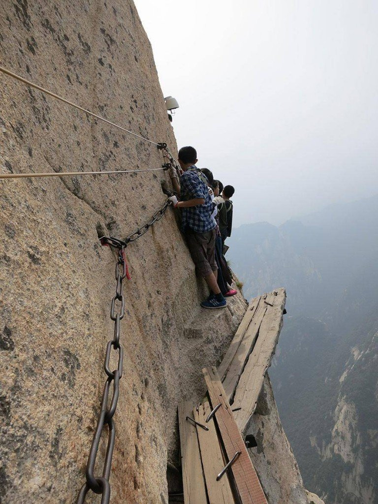 Traversing the Death Trail on Mt. Huashan in China