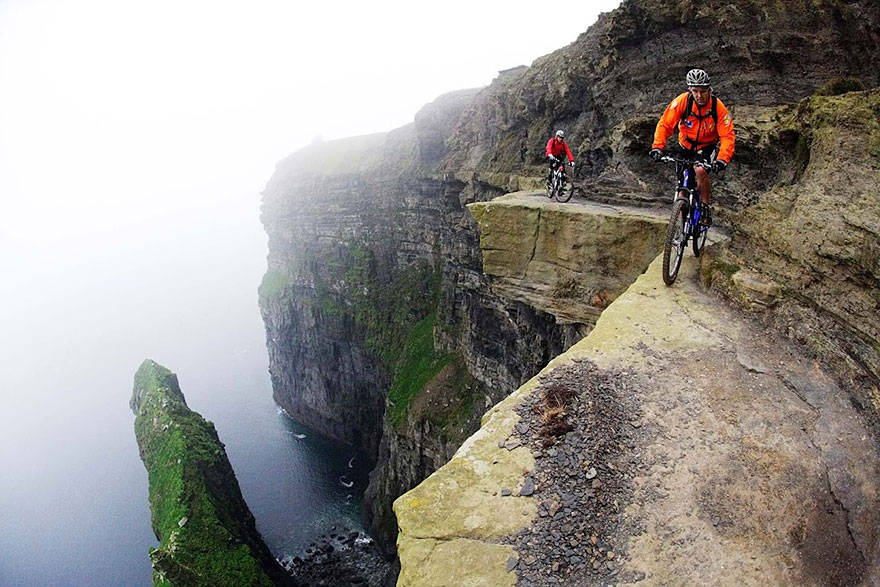 This bike trail along the Cliffs of Moher.