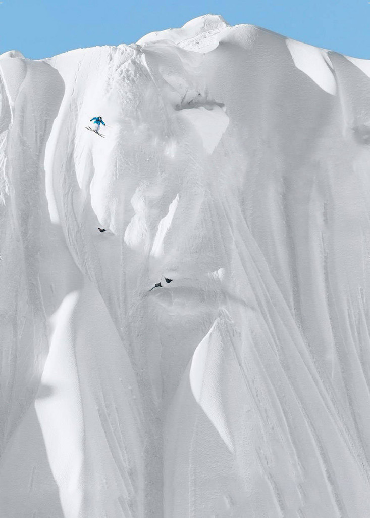 This outrageous example of extreme skiing.