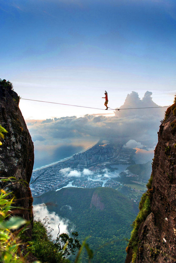 A very different view of Rio de Janeiro.