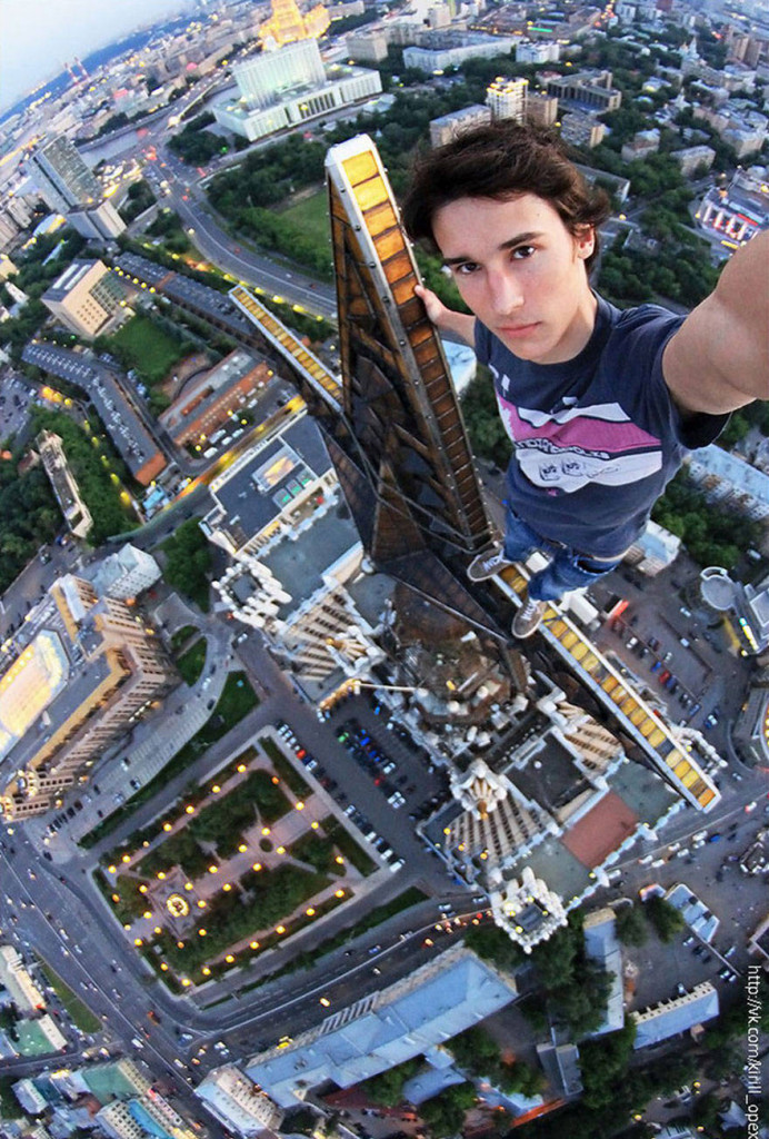 "Hanging out anywhere with Kirill Oreshkin, also known as ""Russia's Spiderman."""
