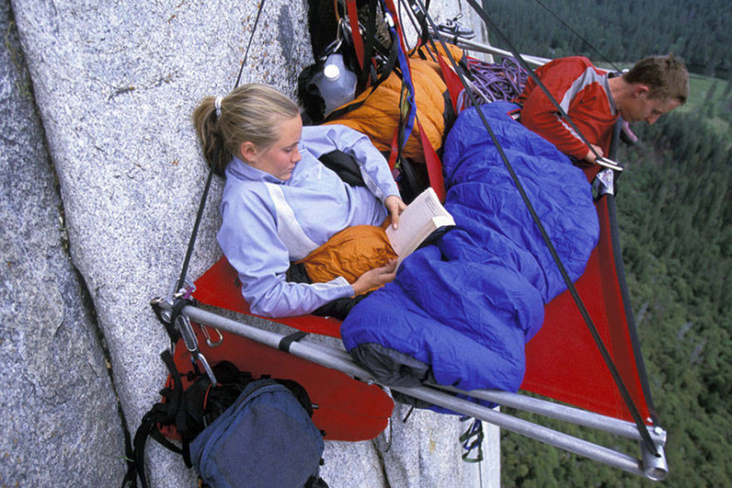 Again with the cliff camping!