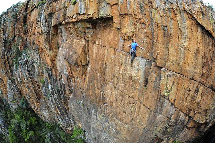 John Roberts, climbin' around South Africa