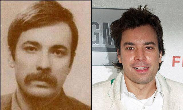 Jimmy Fallon vs. Turkish revolutionary Mahir Canyan,Doppelgangers, celebrity Doppelgangers, historical Doppelgangers, Doppelgangers pics