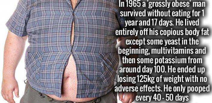 This grossly obese man did something unusual and unbelievable