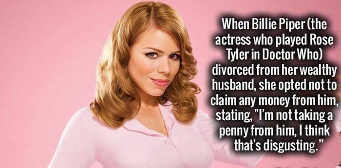 Billie Piper divorce controversy