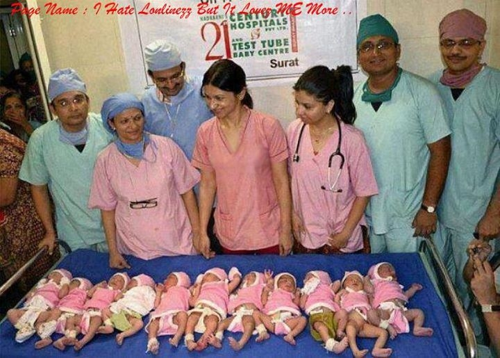 Indian woman gives birth to 11 kids at once