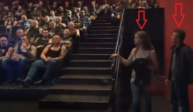 Carlsberg, Carlsberg beer, Carlsberg ad, carlsberg cinema prank, prank, couple in theatre, couple gets shocks