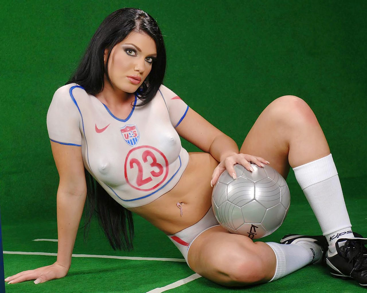 , football hot supporters, body painting, hot body painting, hot ...
