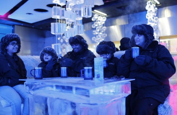 11. Drink up a nice hot chocolate in an ice cafe in the middle of the desert