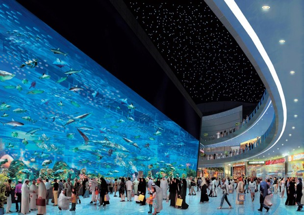 14. It has the world's largest shopping mall (based on total area) that has a giant aquarium in it