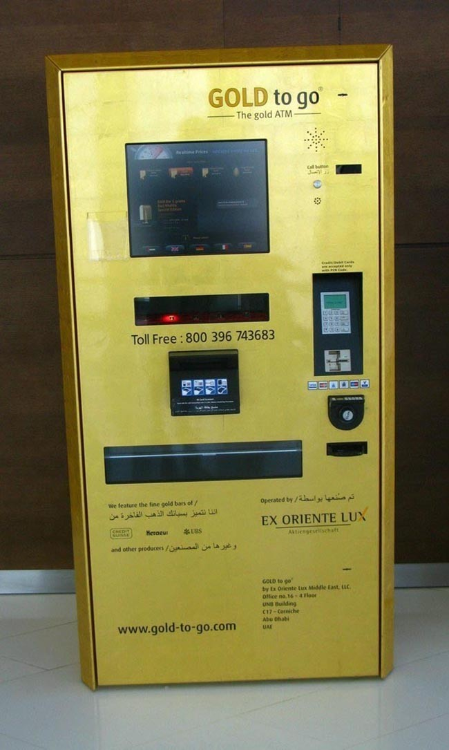 9. This ATM dispenses out gold. Yes, gold