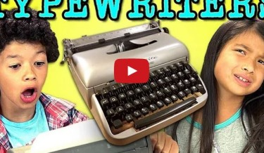 kids reaction to typewriters, kids reaction to old computers, amazing kids reactions, viral video, lol, omg, wtf, old technology, kids and technology, kids vs computers, kids vs typewriter