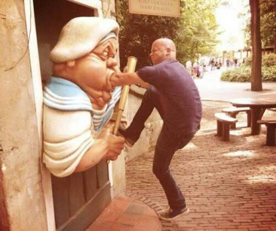 People Brought Statues to Life 13