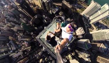 Asia, asian, Crazy, daredevil, hong kong, selfie, Skyscraper, WTF
