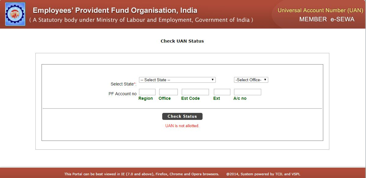 Know Your Universal Account Number Uan Status Of Epf