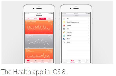 health app in iOS