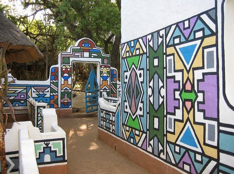 16 coolest photos of most creative tribes in africa for African mural painting
