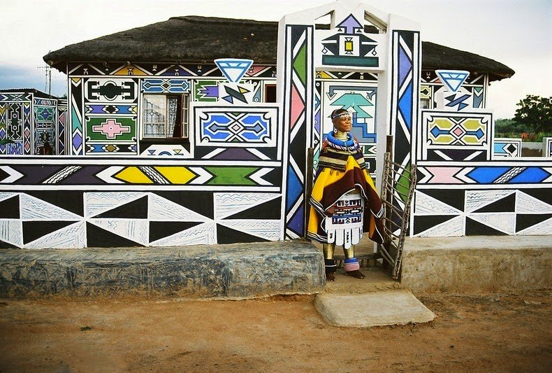 ndebele house painting 8