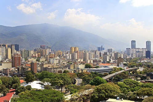 Skyline of Caracas city. Capital of Venezuela