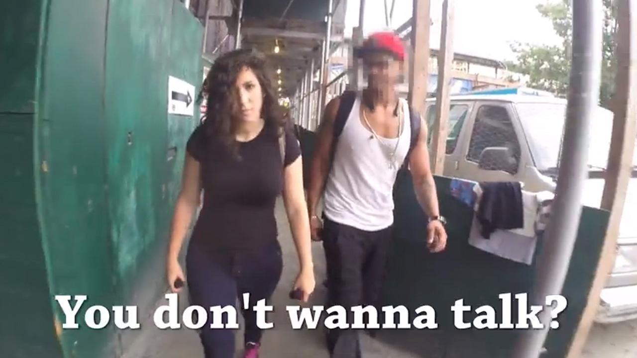 Hollaback, NYC, New York, actress, rape threats, Shoshana B Roberts, Rob Bliss, street harassment