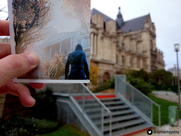 real game location, damien hypolite, assassins creed, france, unity game, paris, genius, photographer, crazy, lol, omg, wtf