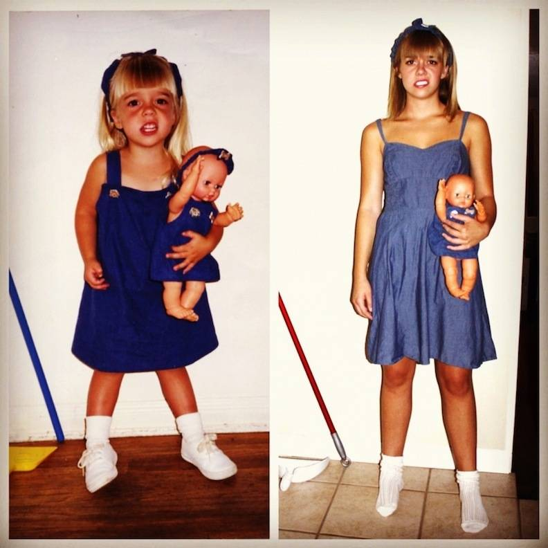 childhood photos, creativity, photos recreation, adult in childhood, baby picture, baby vs adult, lol, omg, wtf, rofl, love, hilarious, recreate baby images