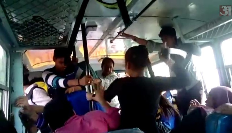 Sexual harassment video in bus