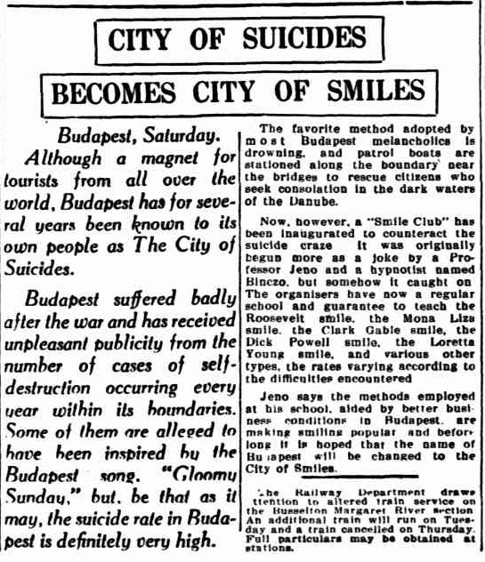 How Budapest Became A City of Smiles From City of Suicides in 1930's  Hungary History (6)