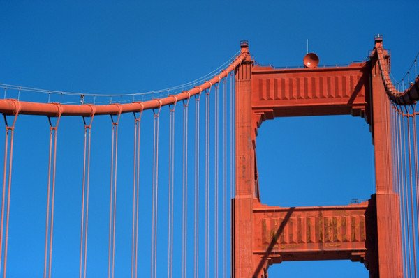 Interesting-Facts-About-The-Golden-Gate-Bridge-San-Francisco-Tower-and-cables-600x399