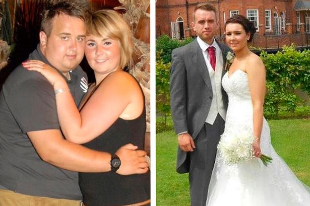 Matt And Hannah Amazing Wedding Weight Lose Photos For