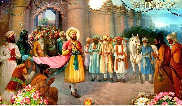 Guru Hargobind Ji _amp_ 52 Kings coming from Gwalior Fort