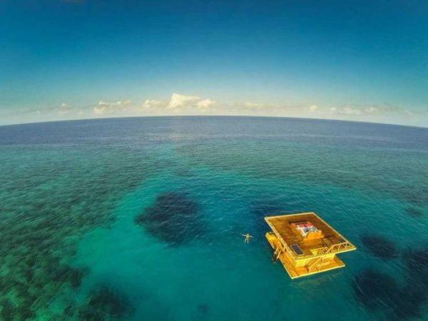 tanzania, zanzibar, archipelago, underwater room, underwater hotel, underwater resort, bizzare hotel, manta resort, mikael genberg, africa, the blue hole