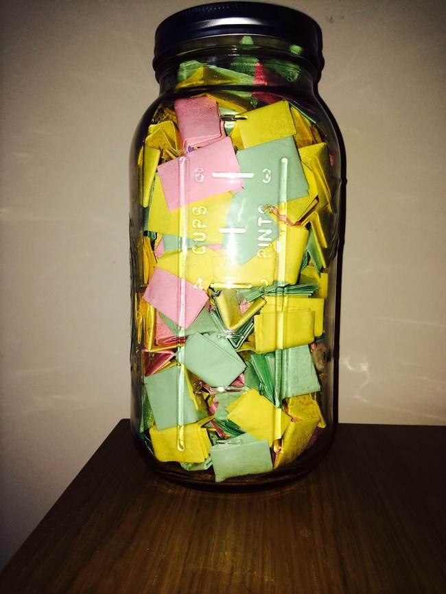 filled jar