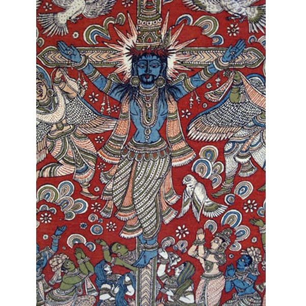 3 india-folk-art-crucifixion-painting