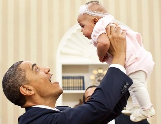 obama loves babies