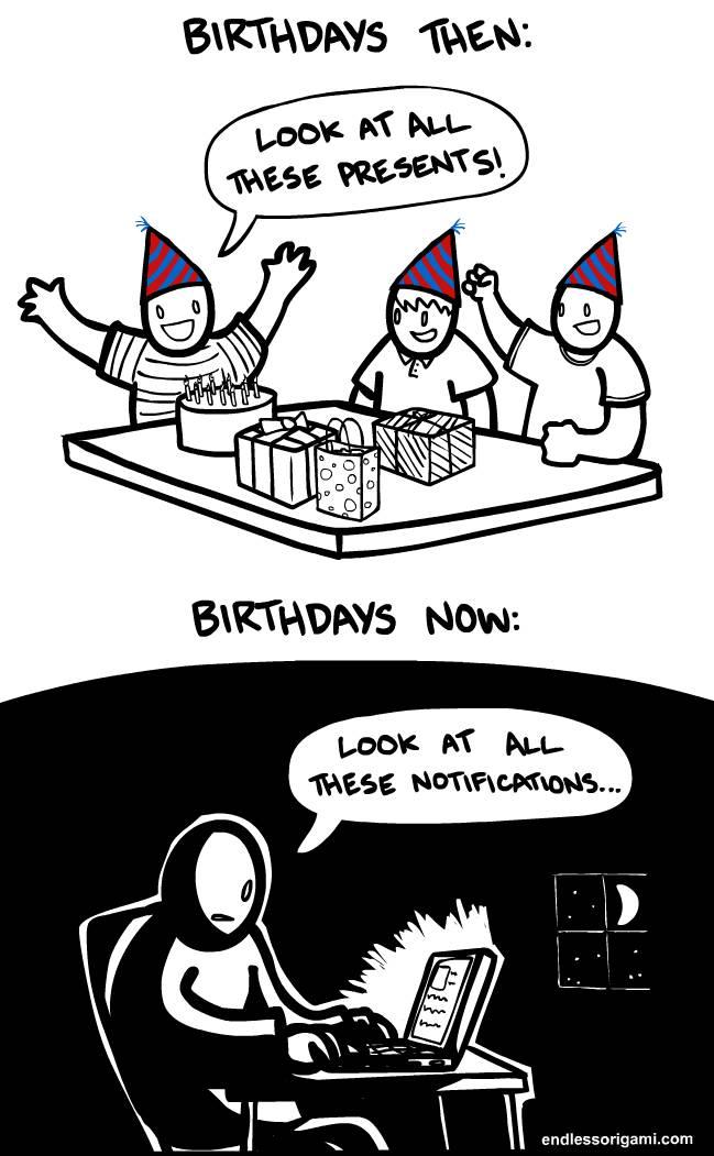 8. Celebrating your birthday