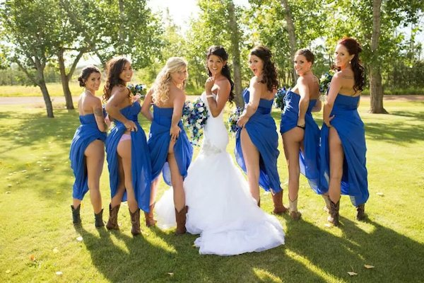 Bridesmaids Booties, Bridesmade Buttshot, Amazing, Bizarre, Dumb, Funny, Interesting, Nudity, Silly, Unusual, WTF, bottoms, Bridesmaids Butts, Controversial
