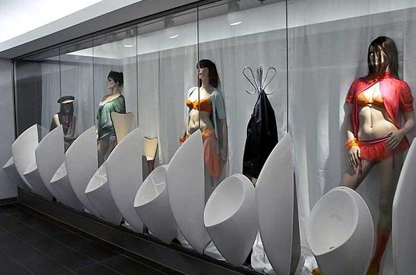 creative urinals, weird, toilet design, innovative, creative, bathrooms, wtf