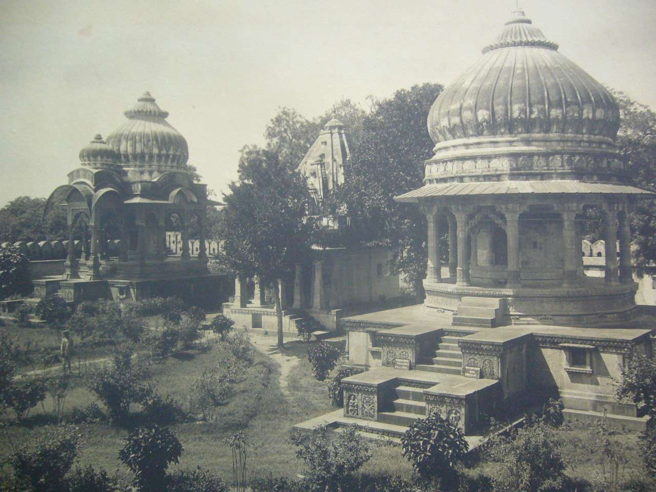 Chhatris, Indore,a photo by Vernon & Co., Bombay, 1912