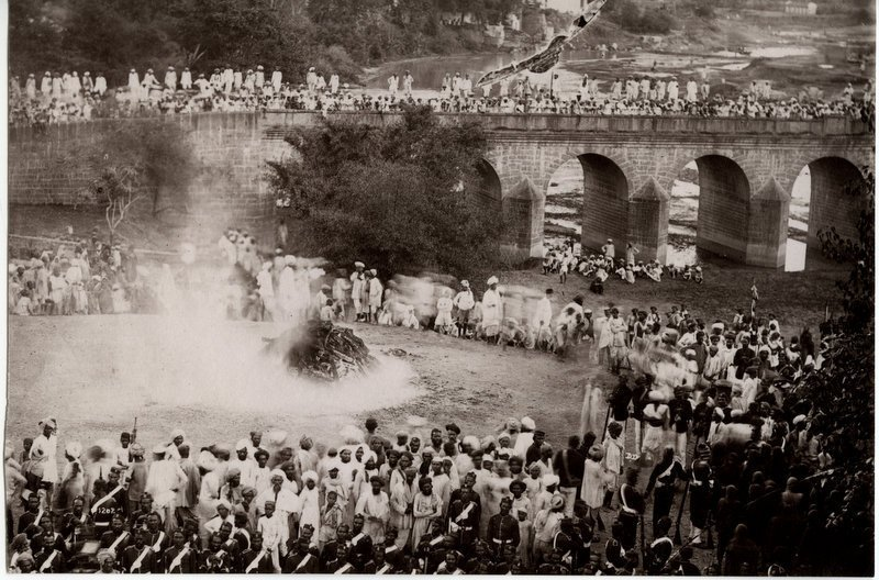 Cremation of Maharaja of Indore -1880