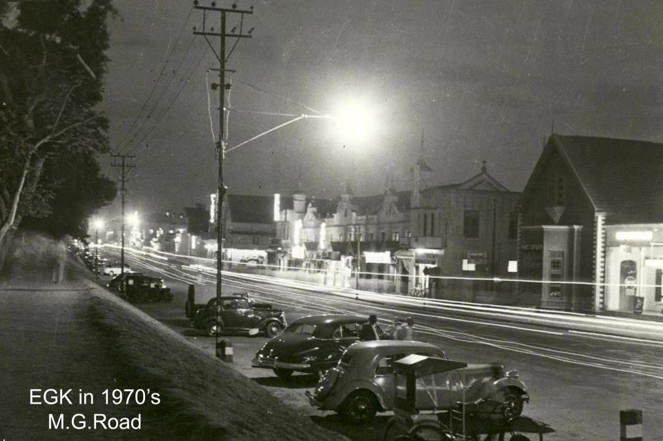 EGK on M.G. Road in the 1970's.
